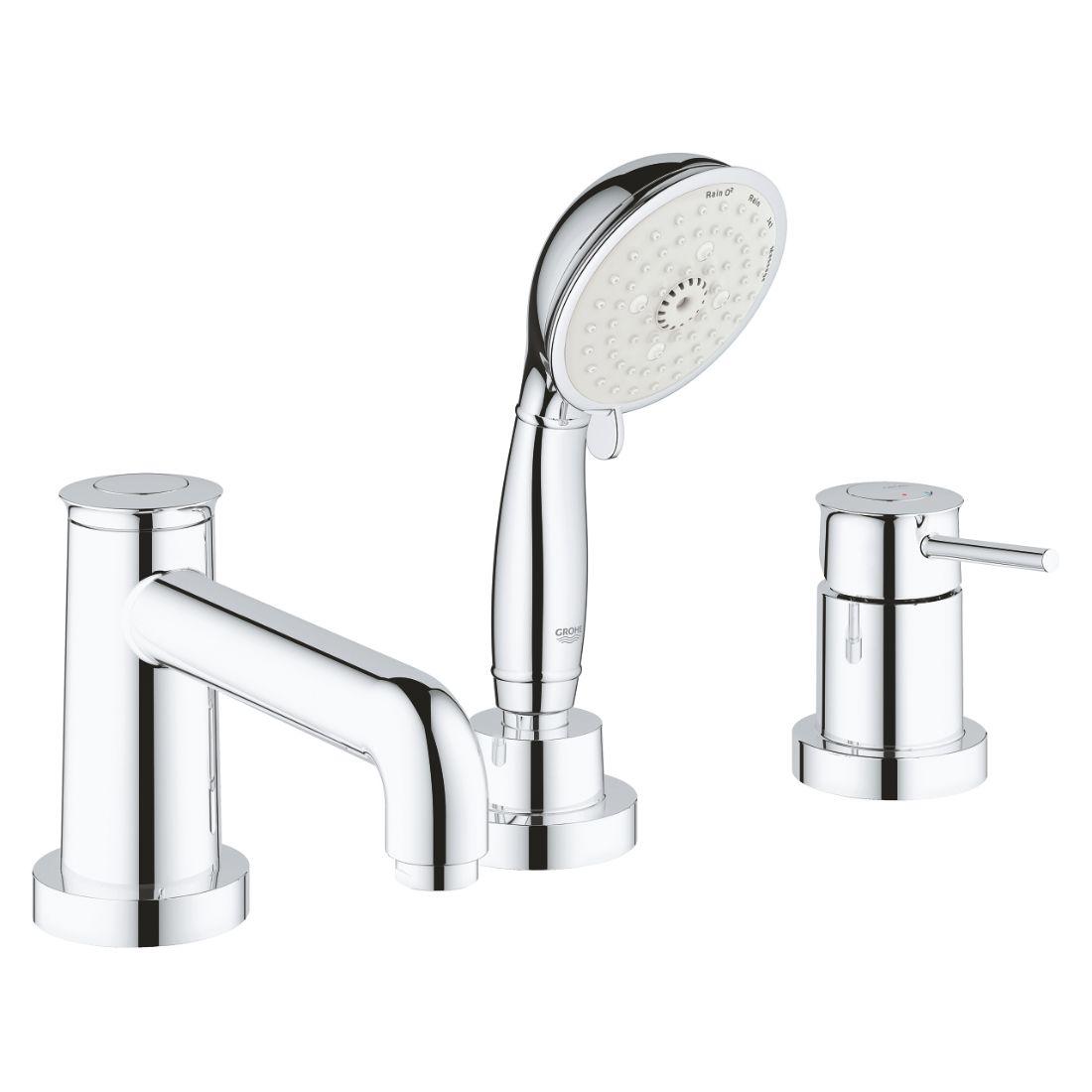 Grohe 2511800A Bauclassic 3-Hole Bath/Shower Combination