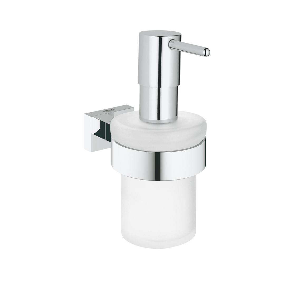 Grohe 40756001 Essentials Cube Soap Dispenser With Holder