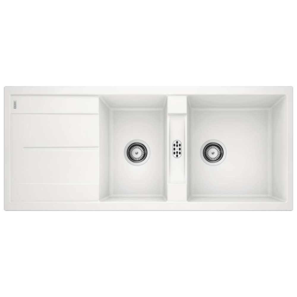 Blanco METRA 8S Double Bowl Sink With Drain Board  - 56570740