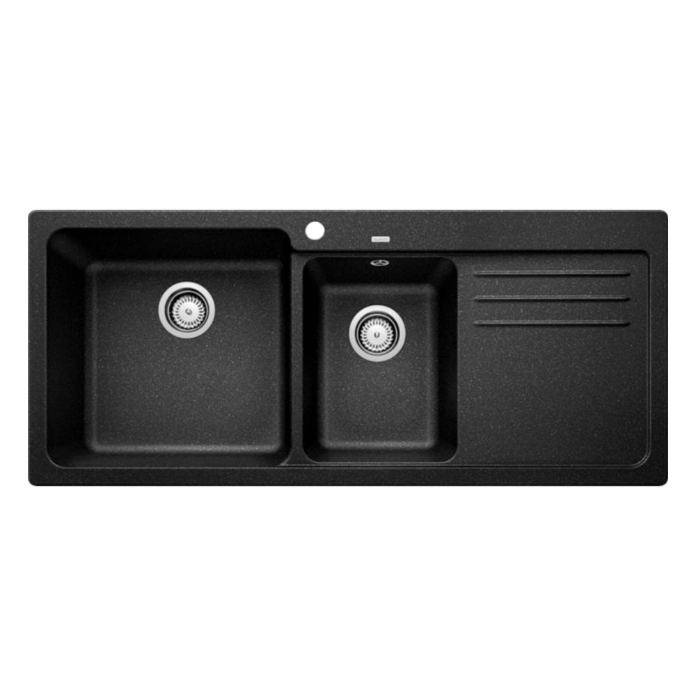 Blanco NAYA 8S Double Bowl Sink With Drain Board  - 56571350