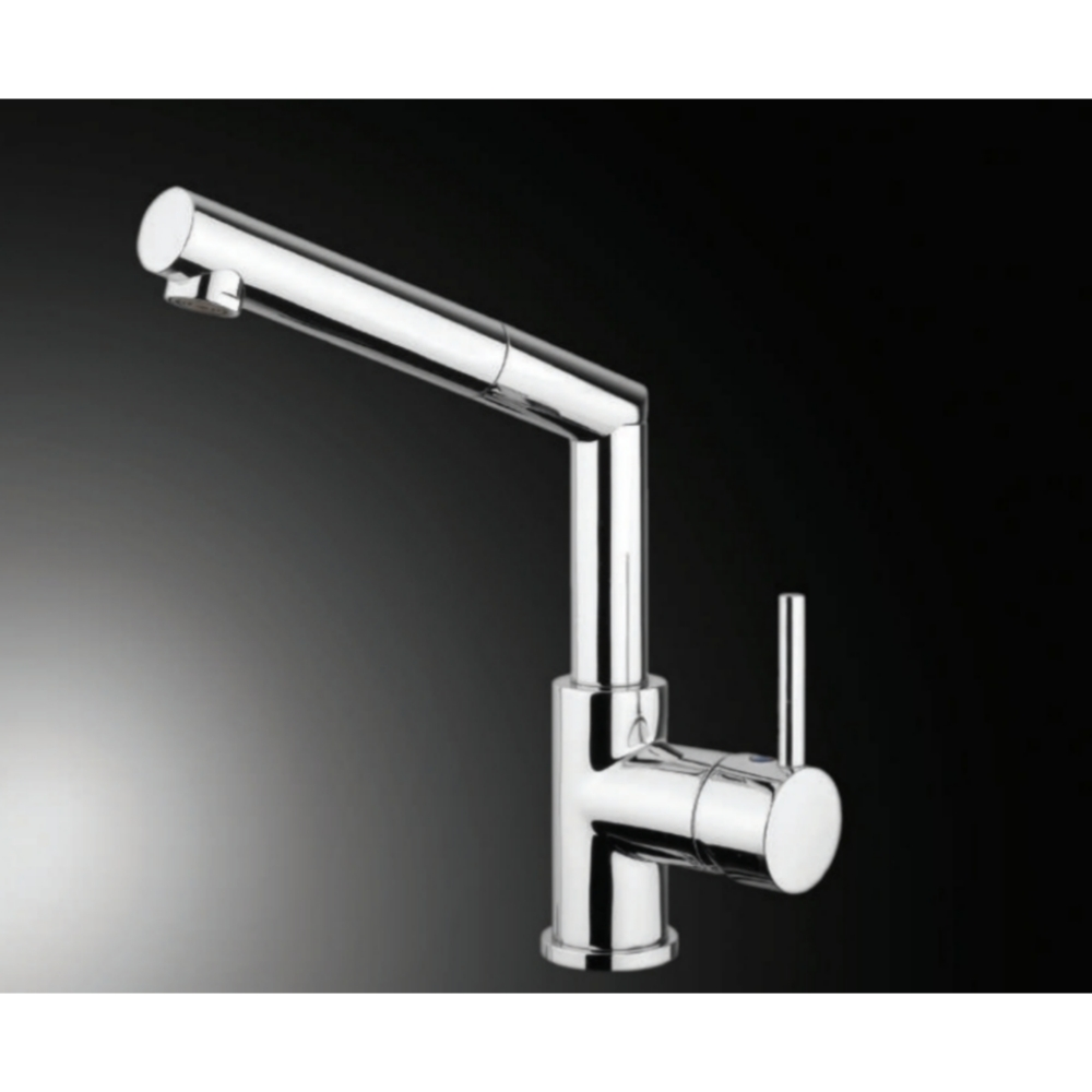 Hefele TRENTA Deck Mounted Sink Mixer with Pullout-Silver -56621240