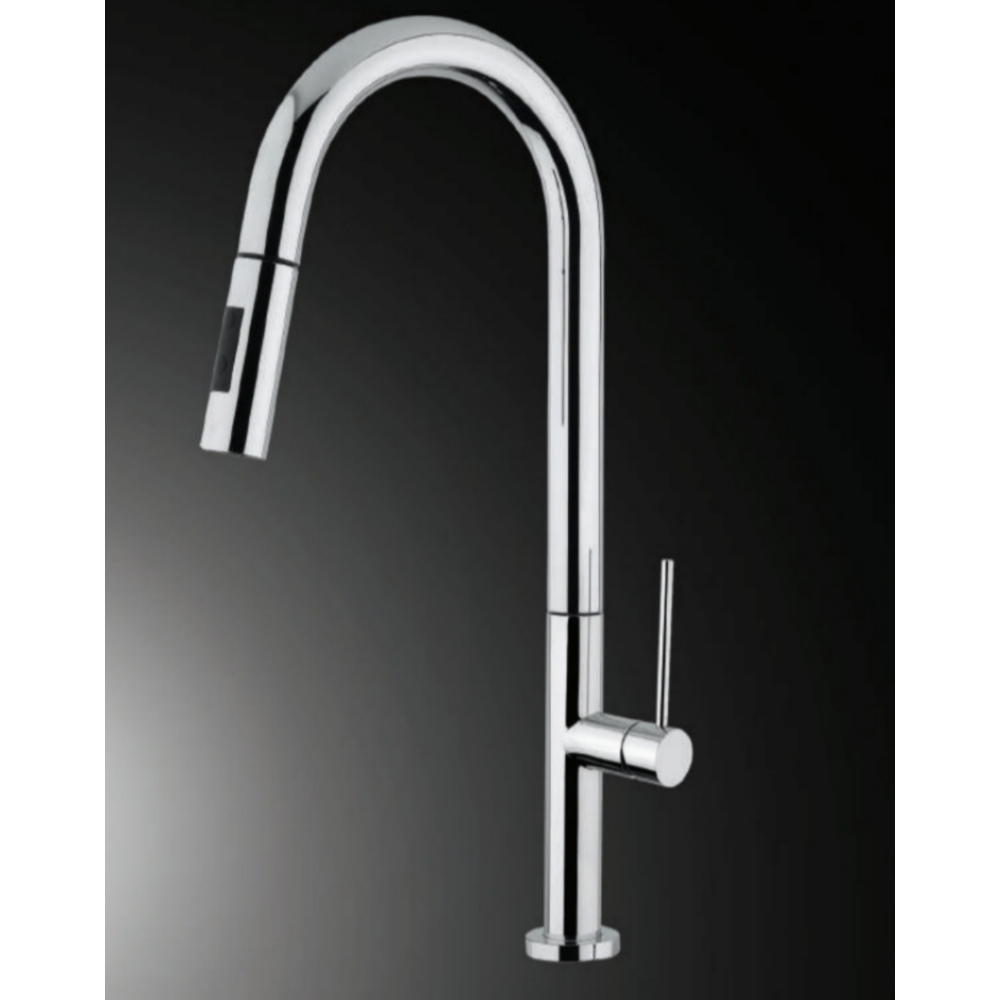 Hefele SLIM Deck Mounted Sink Mixer with Pullout-Silver -56624250