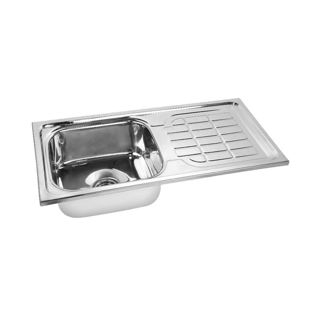 Prayag 939-DM Glossy Single Bowl With Drain Board
