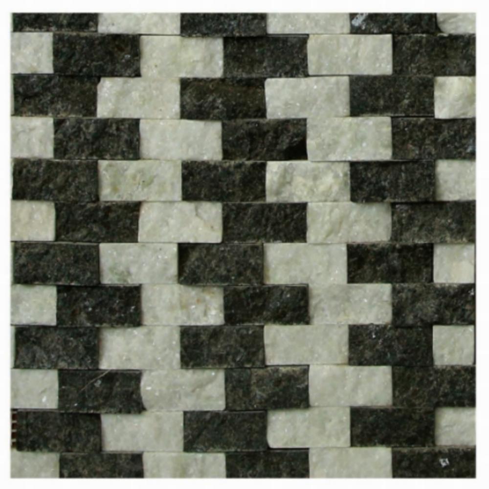 MOSAICS BLACK AND WHITE MIX 12