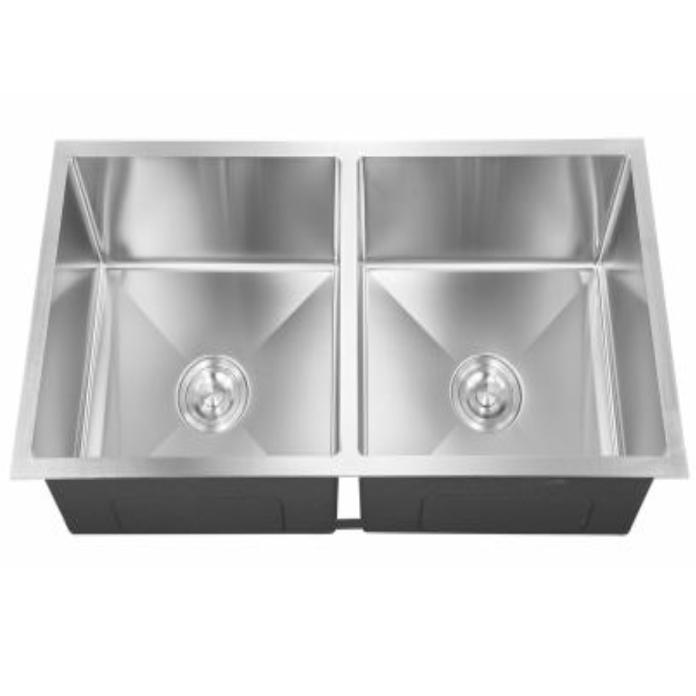 HOOTIC EXOTIC OPTRA 36x18x9 SS304 Satin Double Bowl Sink