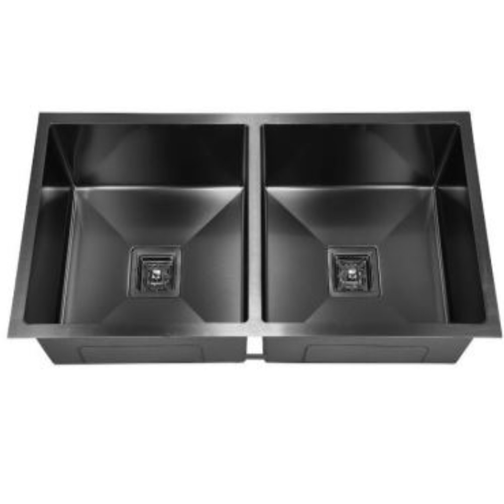 HOOTIC PEARL OPTRA 40x20x9 SS304 Black Double Bowl Sink