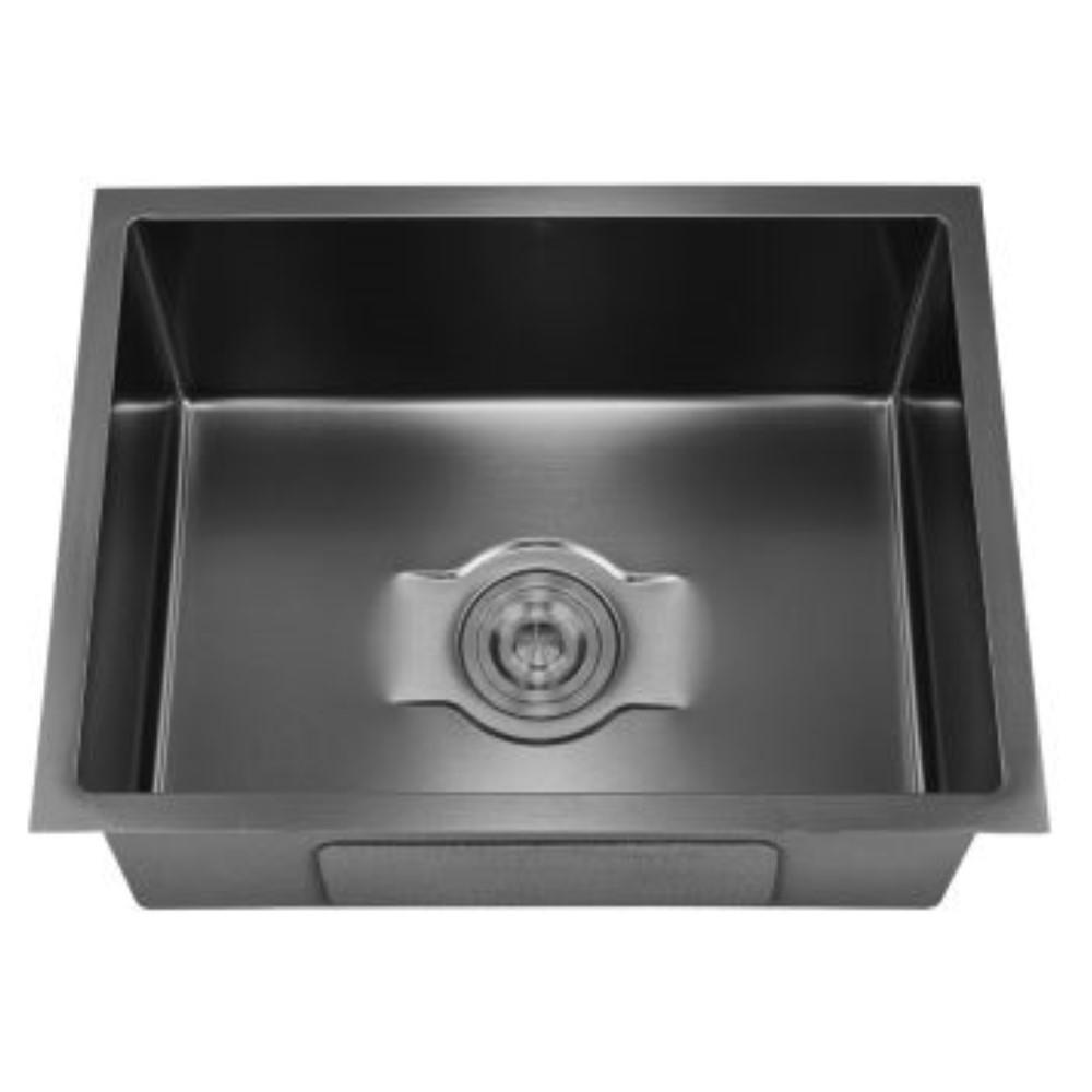 HOOTIC PEARL CLASSIC 21x18x9 SS304 Black Single Bowl Sink