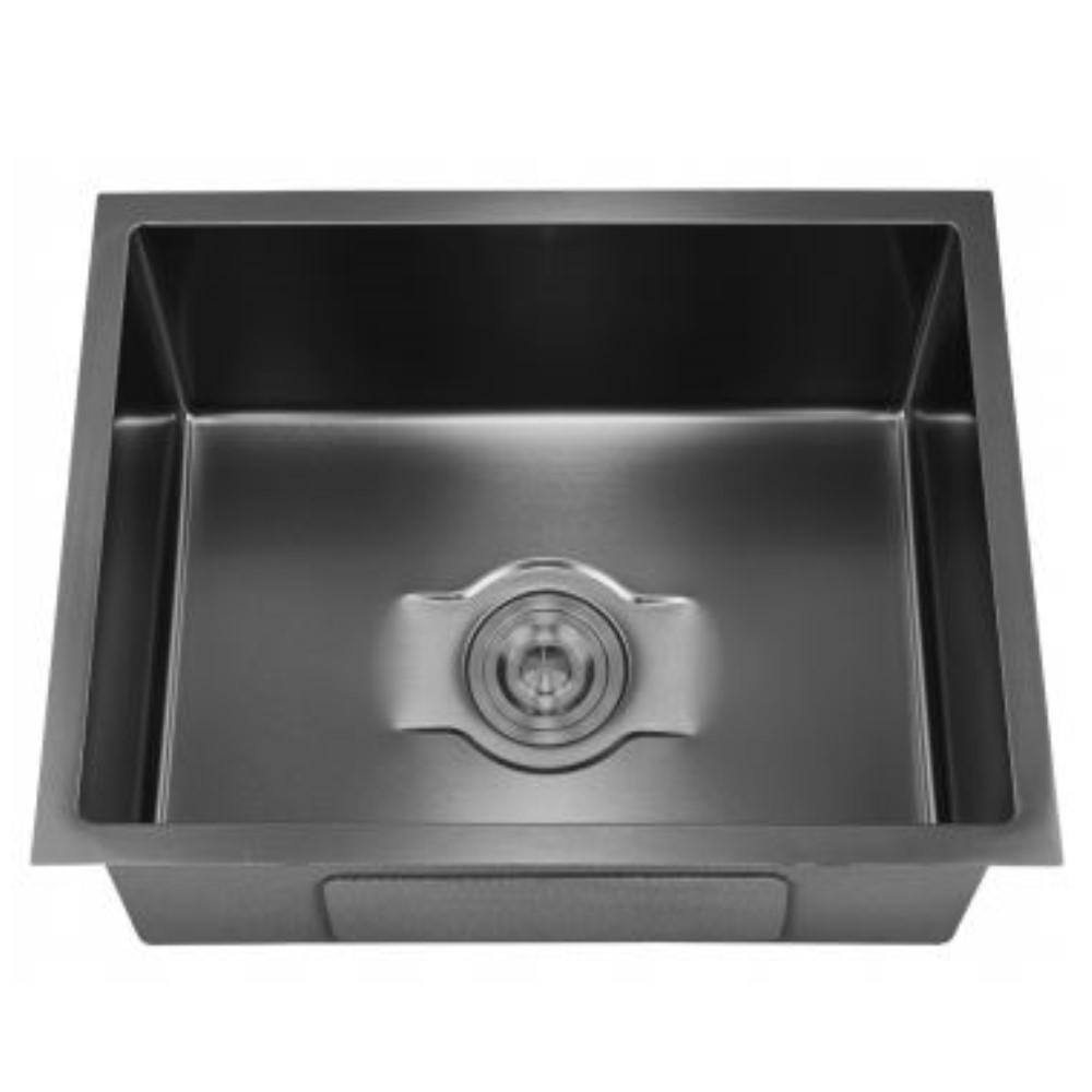 HOOTIC PEARL CLASSIC 24x18x9 SS304 Black Single Bowl Sink