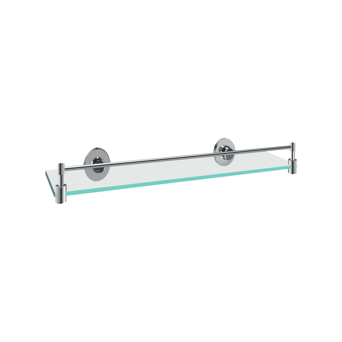 Kerovit KA920005 Round Range Glass Shelf With Twin Arms