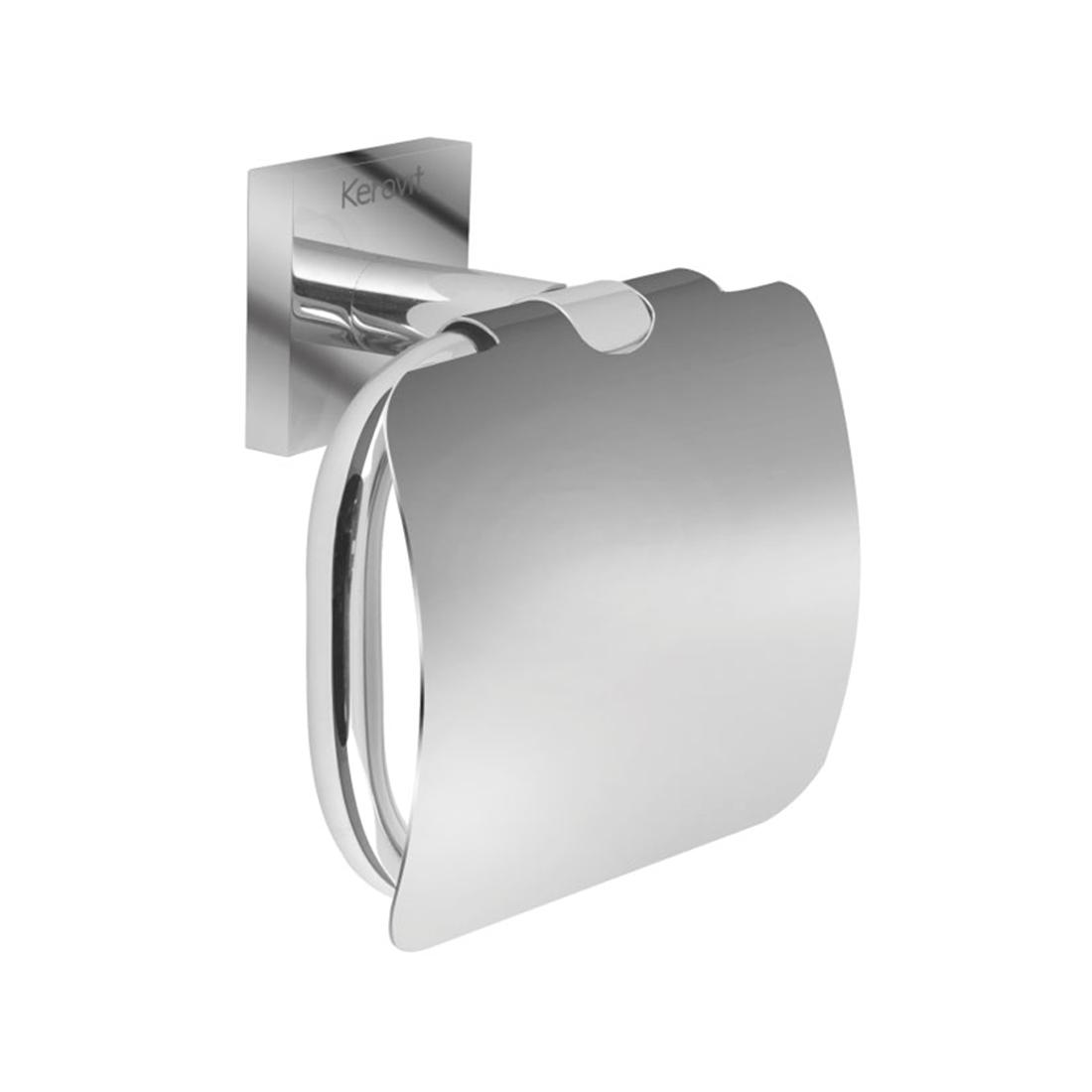 Kerovit KA990009 Square Range Toilet Paper Holder With Flap