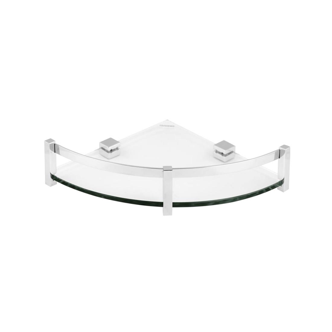 Kerovit KA990013 Square Range Glass Corner Shelf