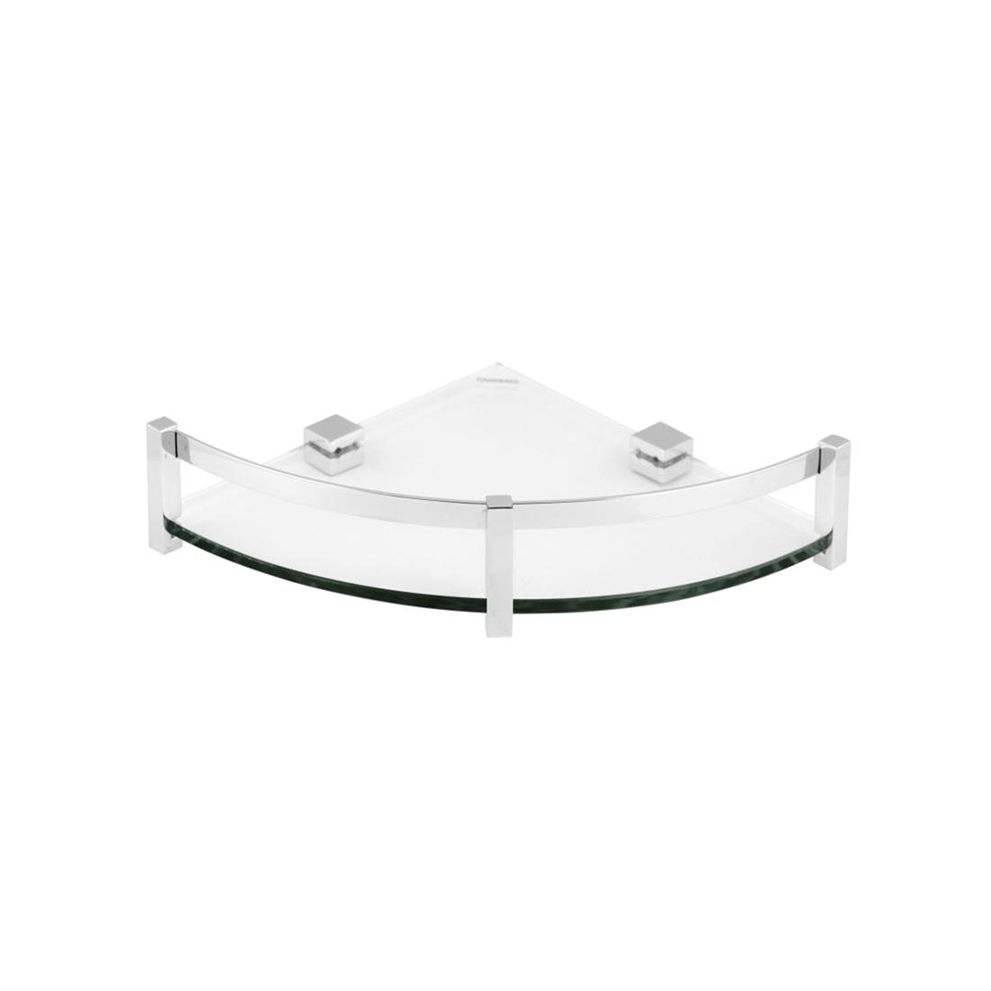 Kerovit KA990014 Square Range Glass Corner Shelf