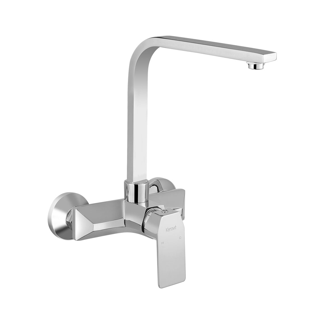 Kerovit Qua KB1011038 Single Lever Sink Mixer With Swivel Spout and Flanges