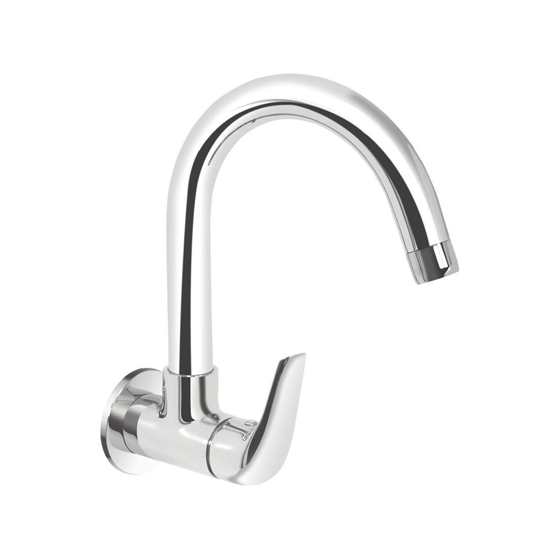 Kerovit Slope KB1311025 Sink Cock With Swivel Spout and Flange