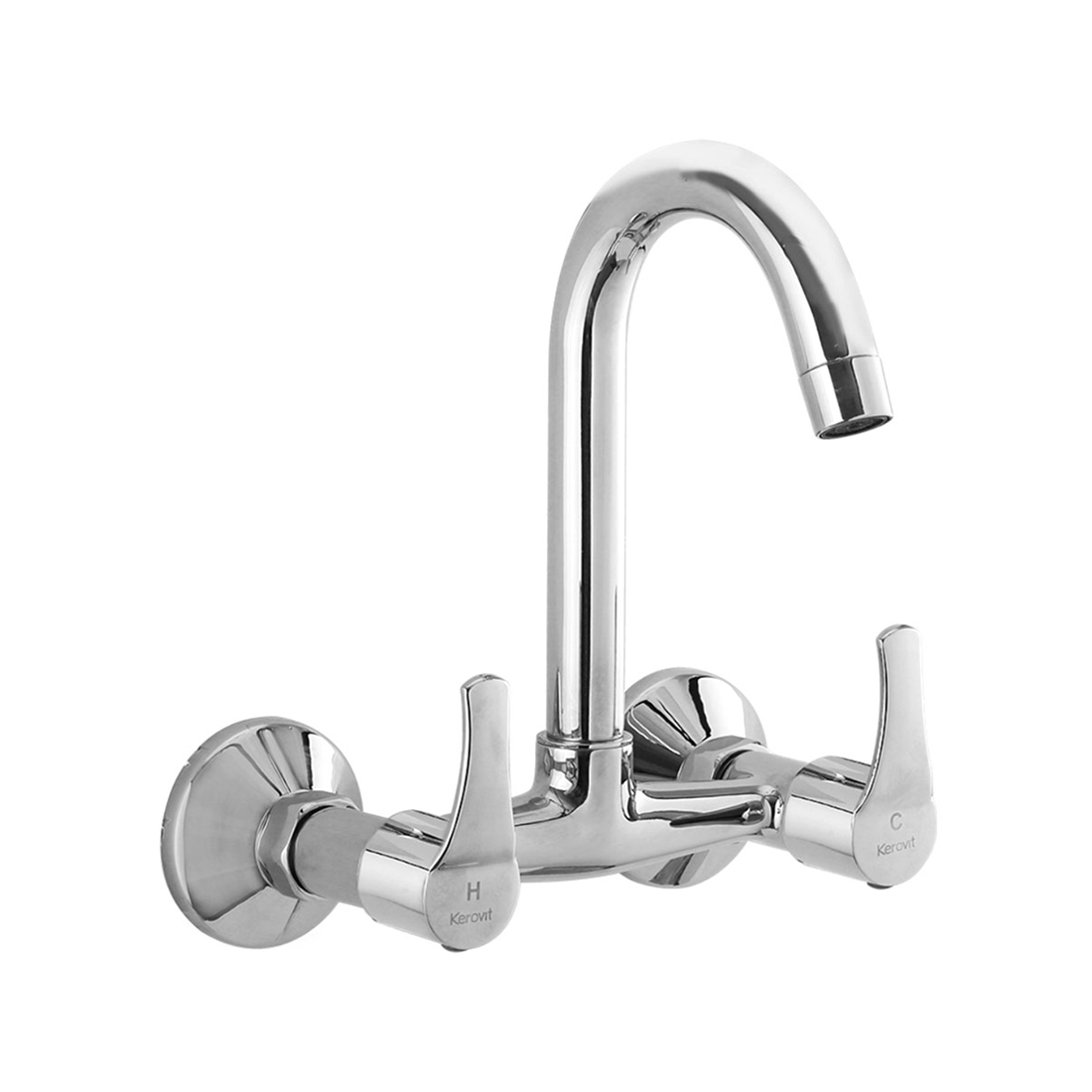 Kerovit Infinit KB2011024 Sink Mixer With Swivel Spout and Flange