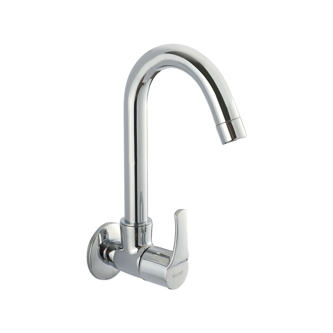 Kerovit Infinit KB2011025 Sink Cock With Swivel Spout and Flange