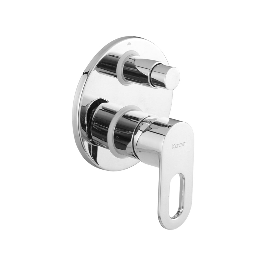 Kerovit Trendy KB2111014 Single Lever 2-Inlet Concealed Bath and Shower Mixer Trim