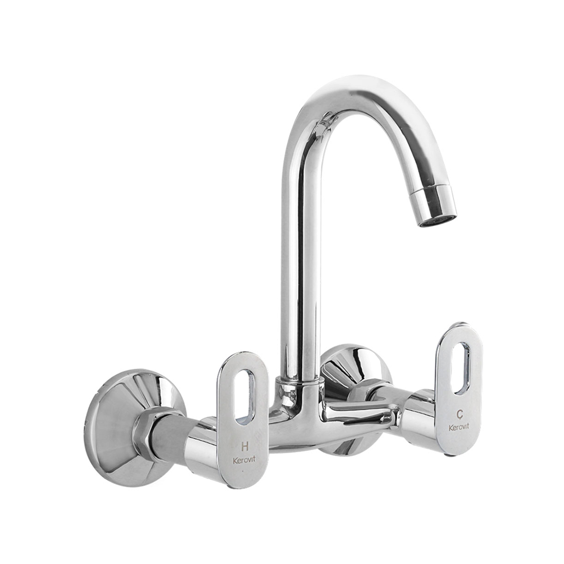 Kerovit Trendy KB2111024 Sink Mixer With Swivel Spout and Flange