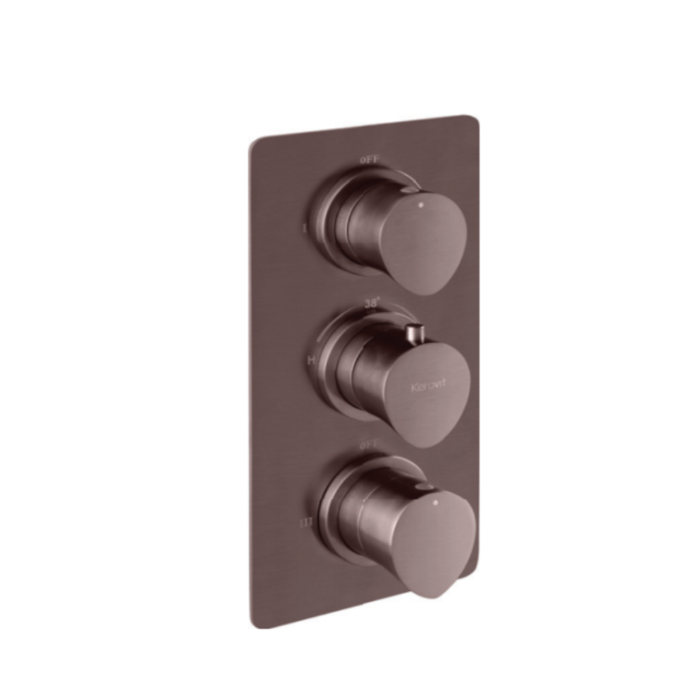 Aurum Aurius KB23THR002-GMP 4 Outlet Con. Hi-Flow Thermostat Bath & Shower Mixer