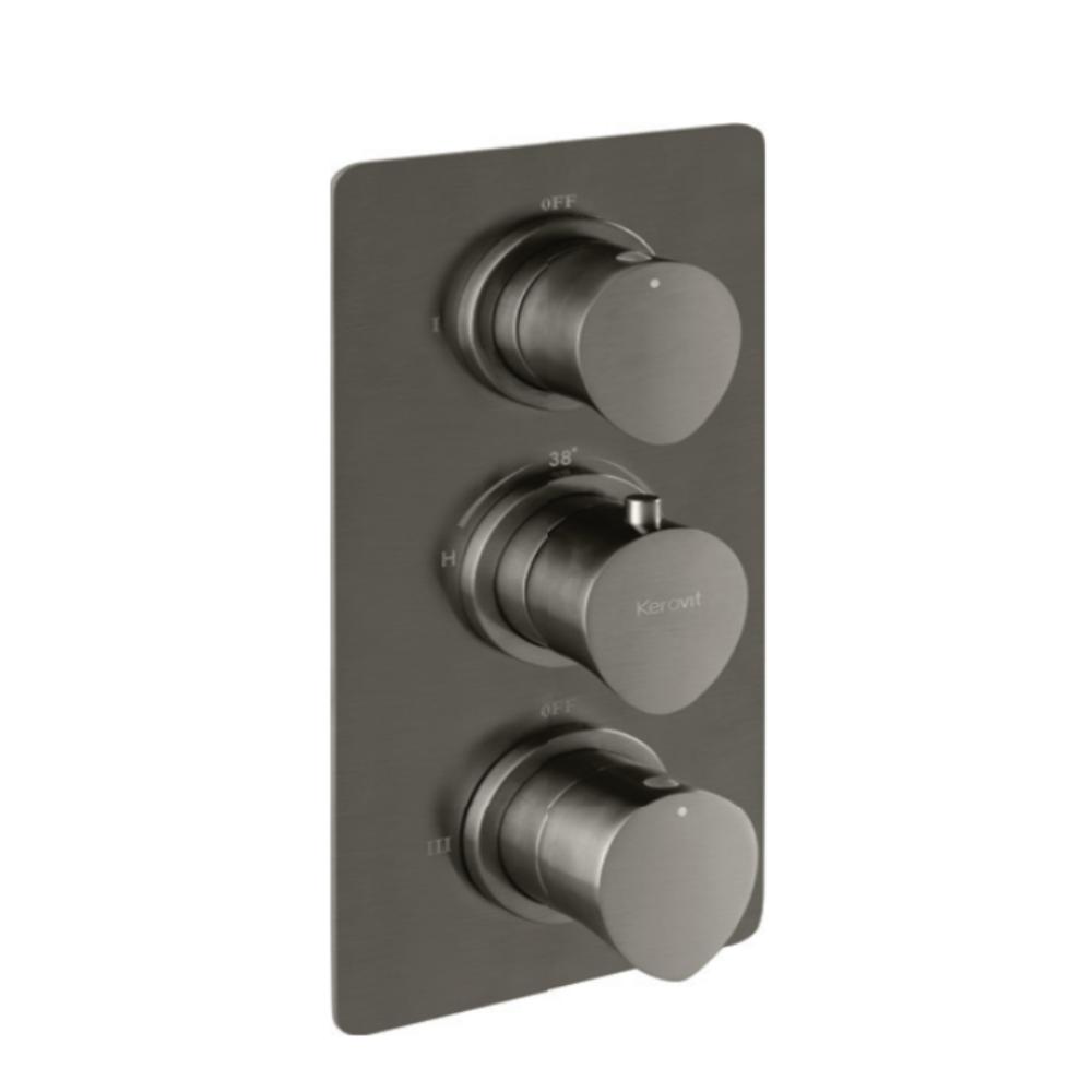 Aurum Aurius KB23THR002-GM 4 Outlet Con. Hi-Flow Thermostat Bath & Shower Mixer