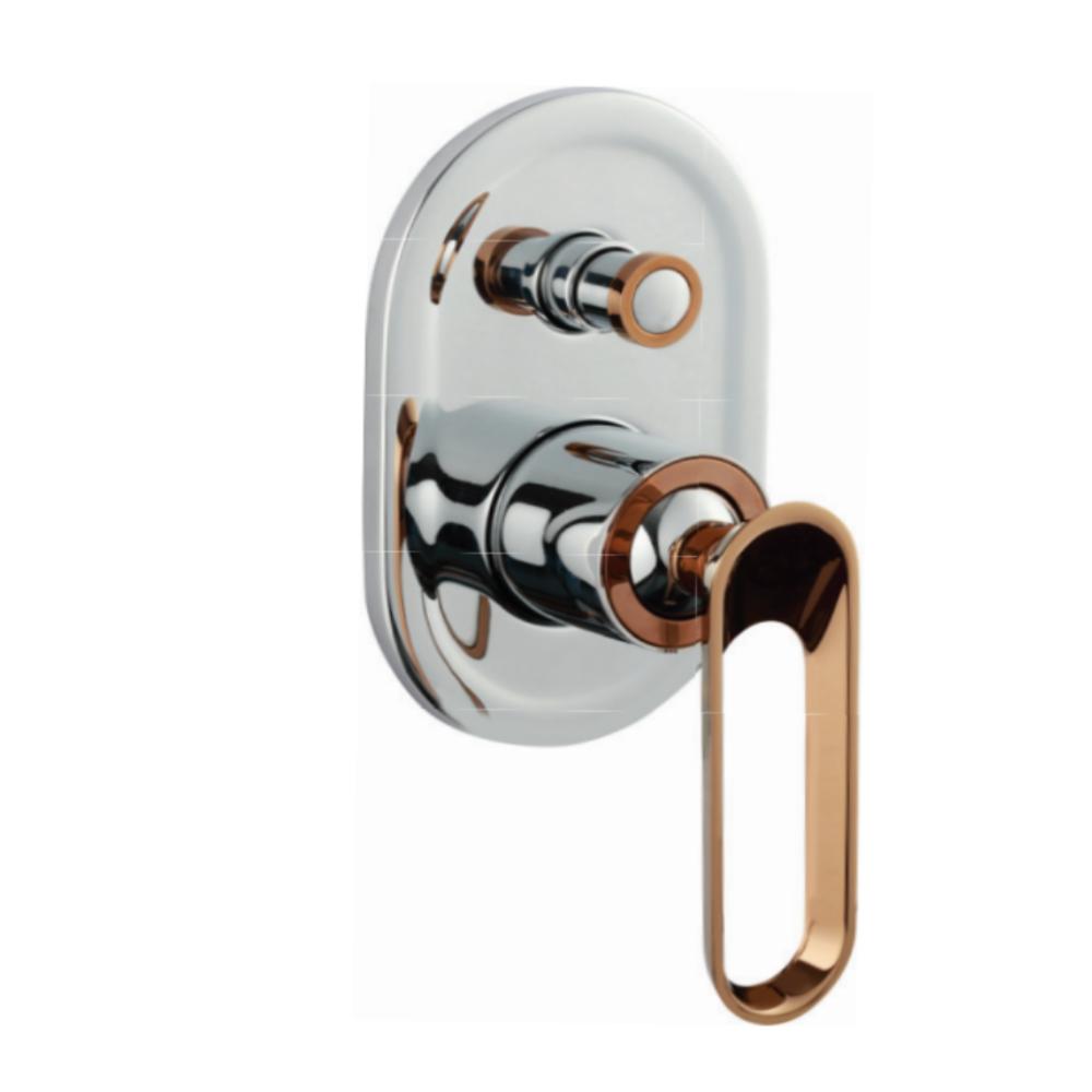 Aurum Fluer KB2411037-CRG 2 Inlet Hi-Flow Concealed Single Lever Diverter Trims (Compatible With KB2411035-CRG)