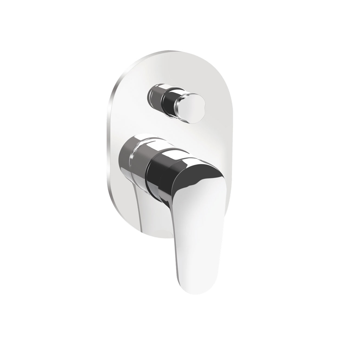 Kerovit Hydrus KB411014 Single Lever 2-Inlet Concealed Bath and Shower Mixer Trim