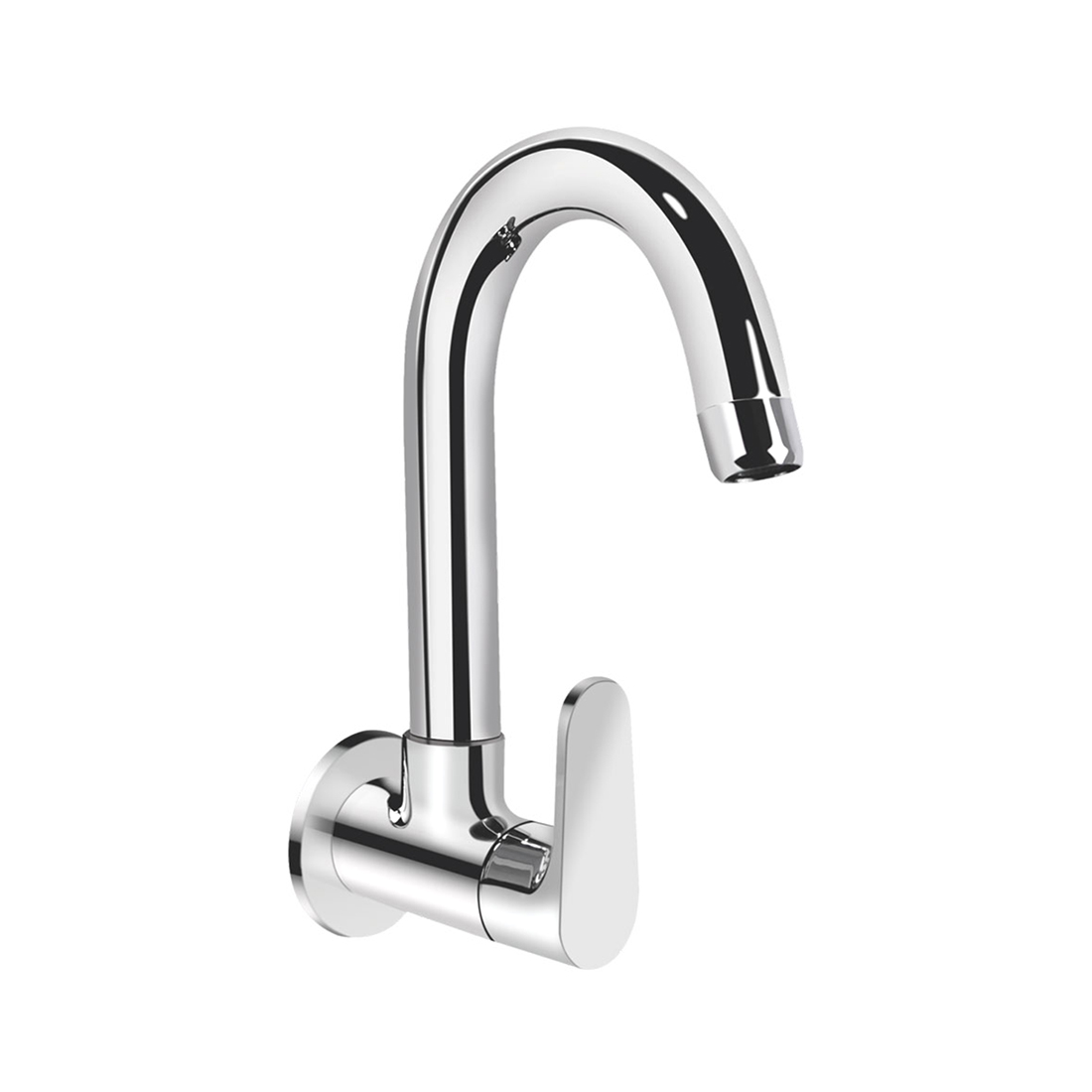 Kerovit Hydrus KB411025 Sink Cock With Swivel Spout and Flange