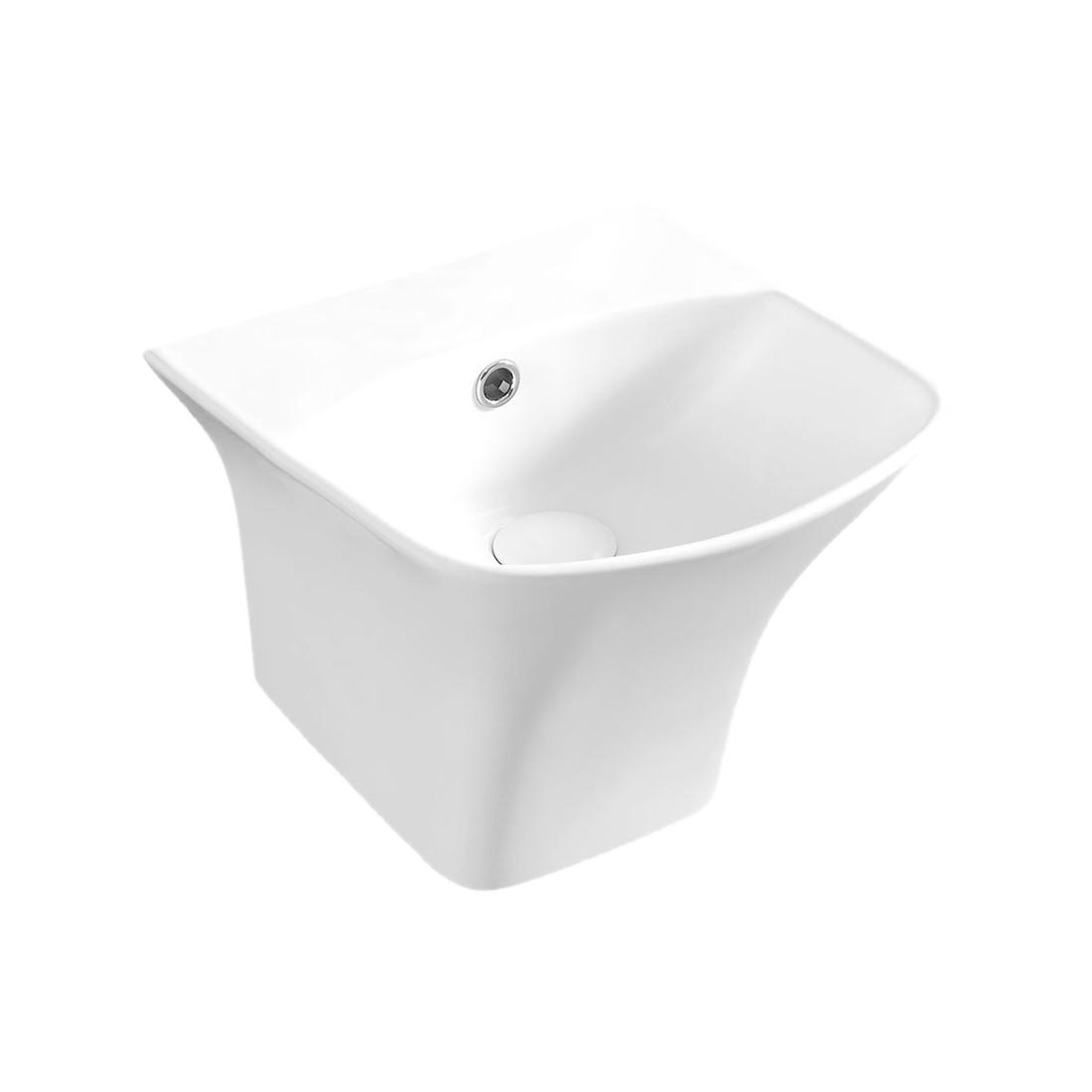 Kerovit Blanca S KB5200D Wash Basin With Integrated Half Pedestal