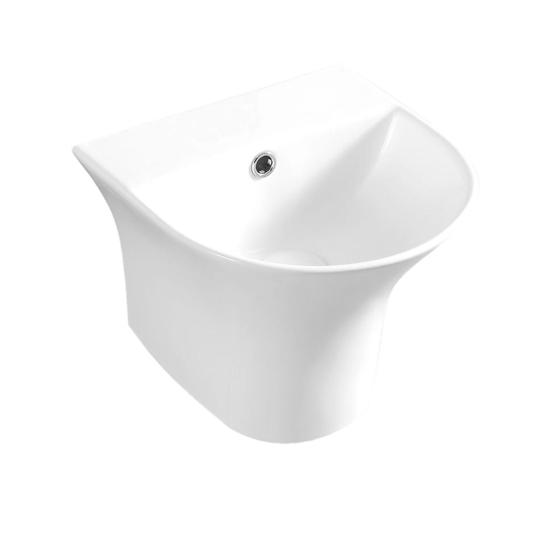 Kerovit Rio S KB5300D Wash Basin With Integrated Half Pedestal