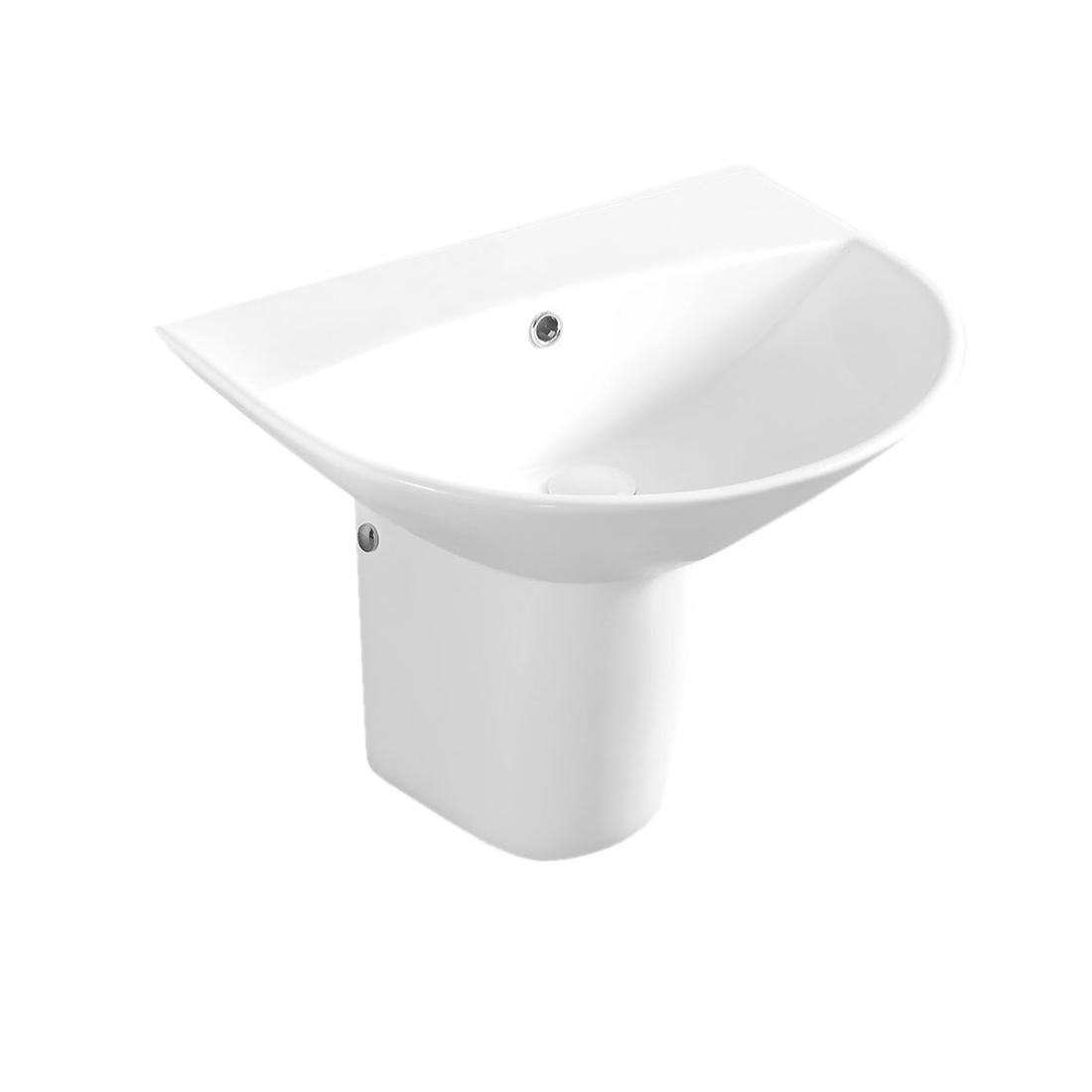 Kerovit Torso KB5300E Wash Basin With Half-Pedestal
