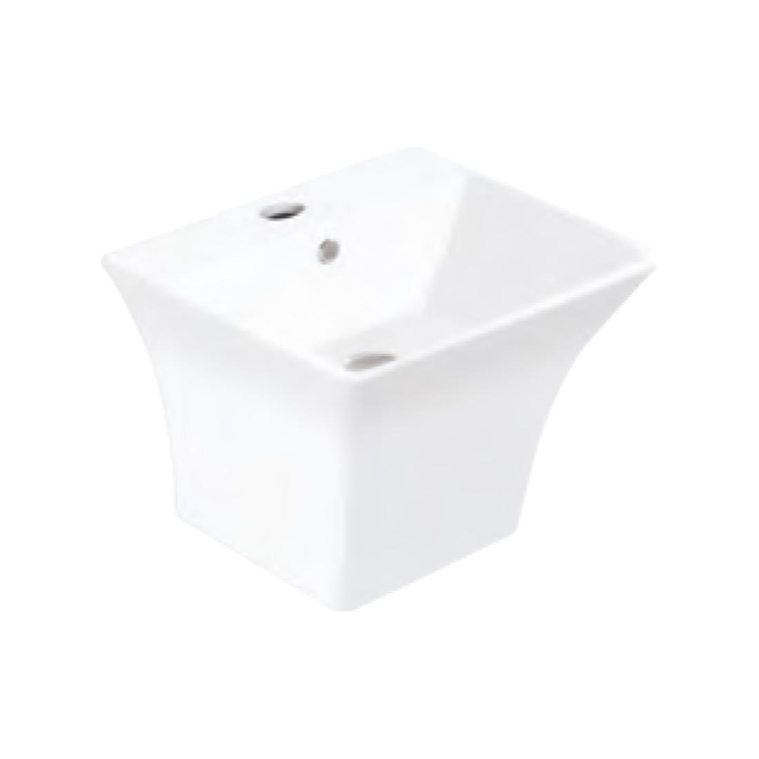 Kerovit Vibe KB5400B Wash Basin With Integrated Half Pedestal