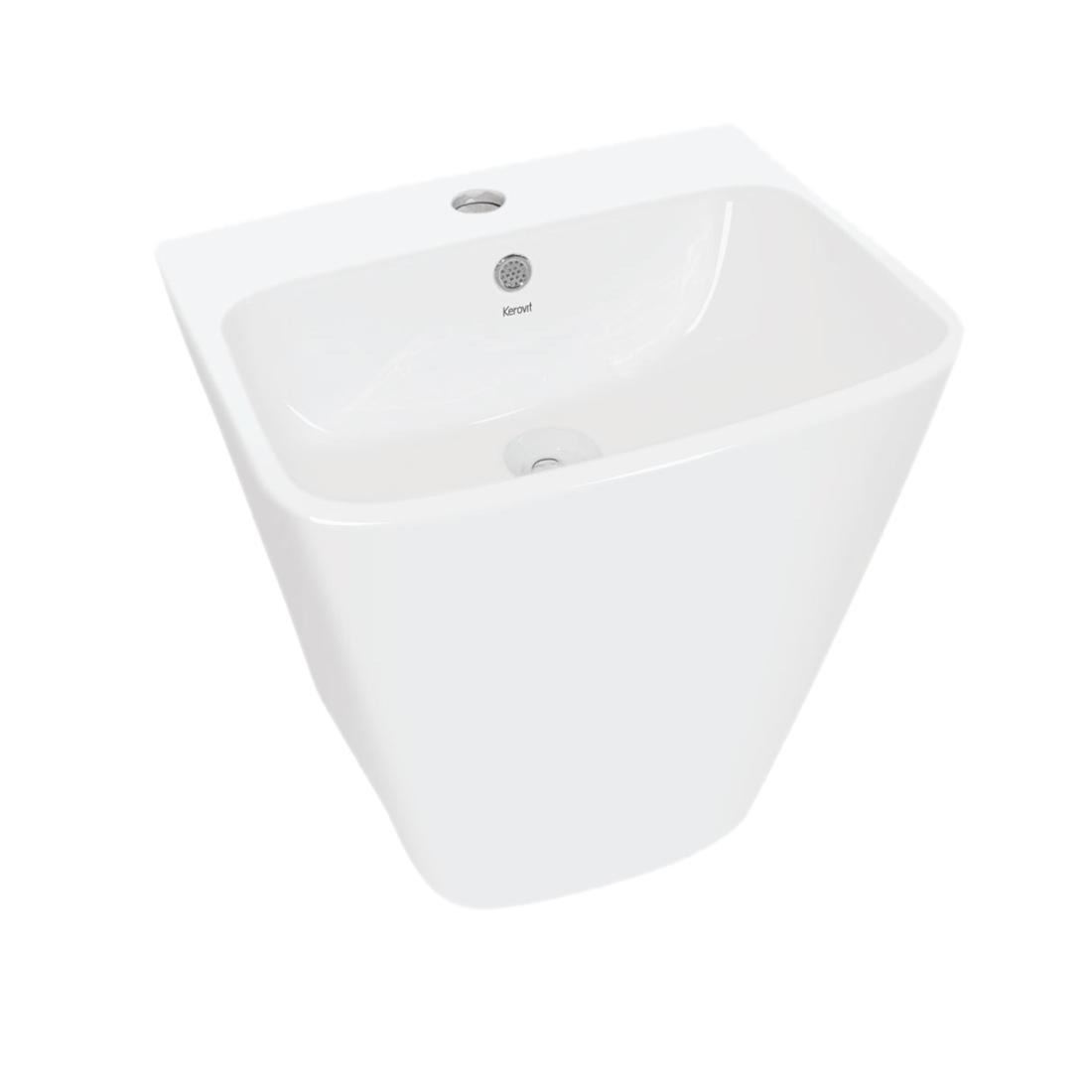 Kerovit Alba KB5800 Wash Basin With Integrated Half Pedestal