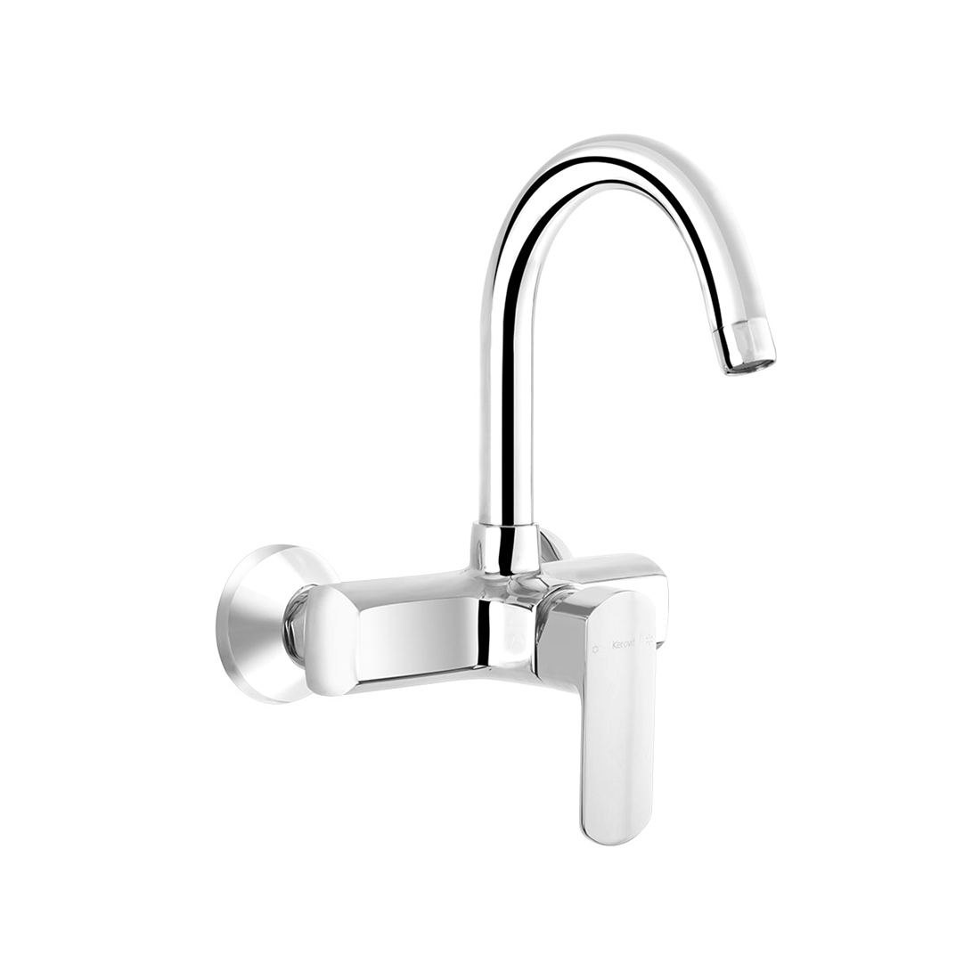 Kerovit Orion KB611038 Single Lever Sink Mixer With Swivel Spout and Flange