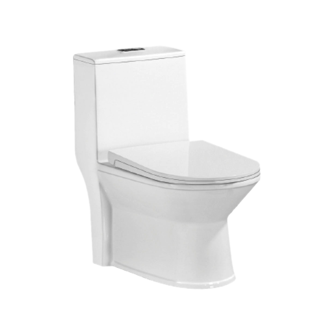 Kerovit Lopez KB639 Siphonic Single Piece European Rimfree Water Closet With Seat Cover and Nuca Fitting