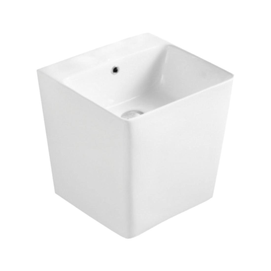 Kerovit Pitcher KB6400 Wash Basin With Integrated Half Pedestal