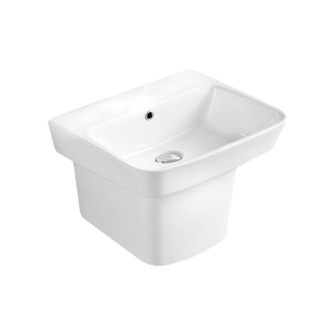 Kerovit Ewer KB6900 Wash Basin With Integrated Half Pedestal