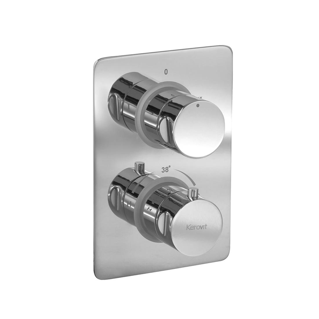 Kerovit KBTHR001 Concealed Hi-Flow Thermostatic Bath and Shower Mixer