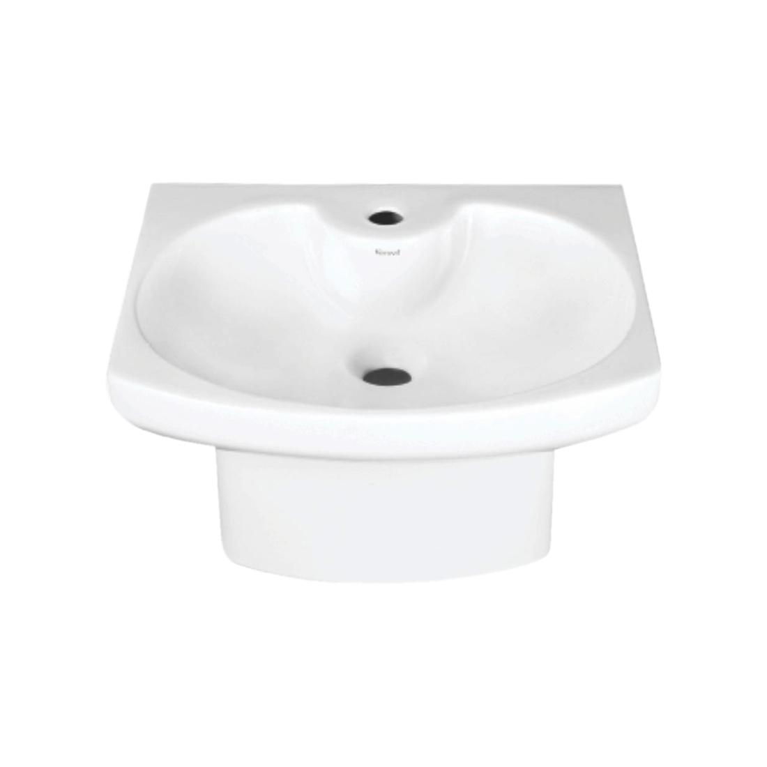 Kerovit Drake KS258 Wash Basin With Integrated Half Pedestal