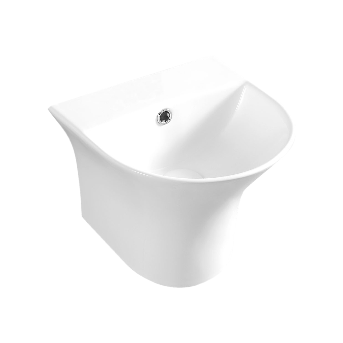 Kerovit Trio KS272 Wash Basin With Integrated Half Pedestal