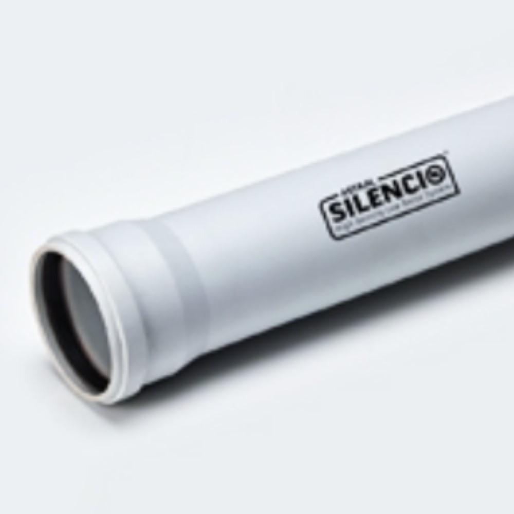Ast  Pvc Silencio Pipe 75mm 2 1/2'' - 3mtr